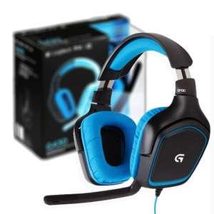 Mínimo: Logitech G430, Sonido Dolby 7.1, Micrófono, Azul (Tienda Física)