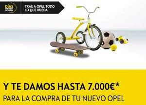 Hasta 7.000€ de Descuento en la compra de tu nuevo Opel ENTREGANDO UN OBJETO QUE RUEDE!