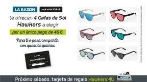4 gafas hawkers
