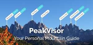 A partir de hoy, la aplicación PeakVisor es gratuita.