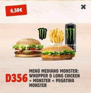 Menú mediano + Monster + Pegatina Monster