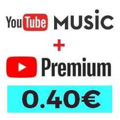 Guía YouTube Music + Premium (India) 0.4€/mes