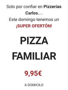 Familiar 9,95 en Pizzería Carlos