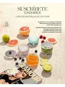 Suscripción Glamour Pocket + 4 mascarillas Loccitane