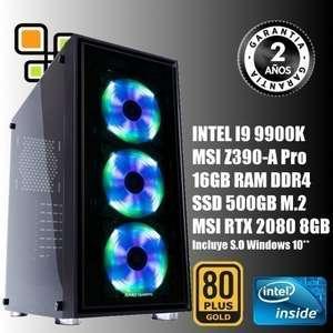 PC Sobremesa Intel I9 9900K- 16gb RAM 3600mhz - RTX 2080 8GB
