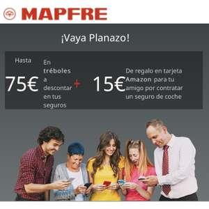 Plan amigo Mapfre 15€ para ti y 15€ para tu amigo (en tarjeta regalo Amazon)