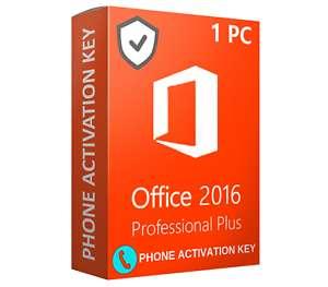 Office 2016 Pro Plus - Clave de Activación Permanente por Telefono Envio Inmediato