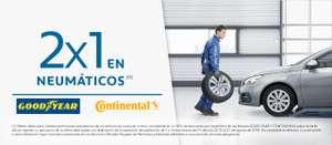 2x1 neumáticos Continental y GoodYear del 1 de Julio al 31 de agosto