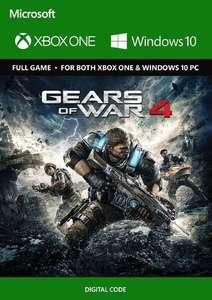 Gears of War 4 Xbox One y PC por 1,69€ (Mínimo)
