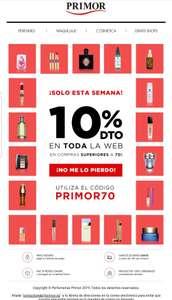 10% descuento en perfumería PRIMOR
