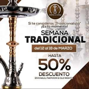 Hasta 50% de descuento en Cachimbas.