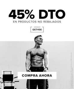 Descuento del 45% en productos no rebajados y 40% en todo