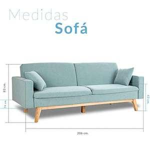 Sofá Cama 3 plazas Reine, varios colores