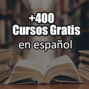 Más de 400 cursos gratis en Español (udemy)