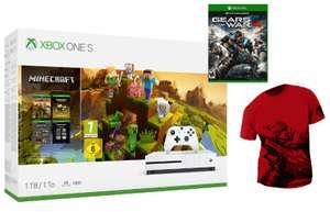 Xbox One S + Fortnite o Minecraft + Gears of War 4 + Camiseta