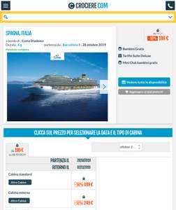Crucero 6 días pensión completa Barcelona hasta Italia, 28 octubre