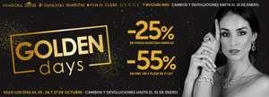 25% en TODAS las marcas de Joyería Sánchez
