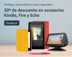 30% descuento en accesorios de Amazon Kindle, Fire y Echo