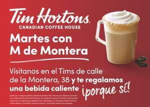 BEBIDA CALIENTE GRATIS EN TIM HORTONS MONTERA