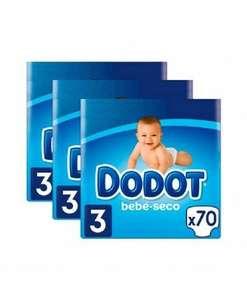 Dodot bebé seco talla 3 - 210 pañales