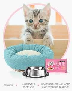 Comedero y Cama GRATIS para tu gato!