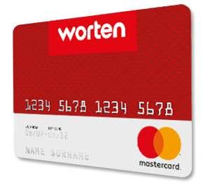 15€ GRATIS al solicitar Tarjeta Worten Mastercard