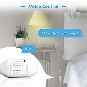 Interruptor Universal Inteligente con Wi-Fi, con Control Remoto Meross App. Compatible con Alexa, Google Assistant .Paquete de 4.