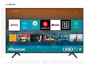 "Hisense H65BE7000 - Smart TV 65"", 4K Ultra HD, Wifi, HDR, Dolby DTS, Quad Core, VIDAA U 3.0 con IA"