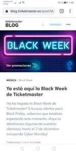 Hasta -40% en Ticketmaster.es en eventos seleccionados