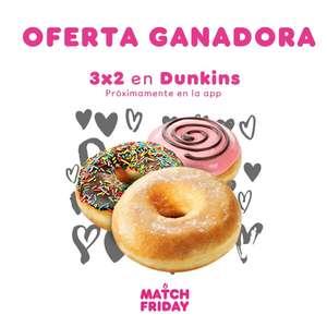 3x2 en Dunkin Donuts