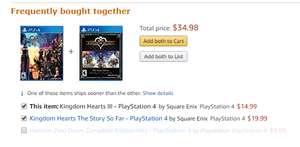 [Amazon.COM] Kingdom Hearts III + The Story So Far para PS4