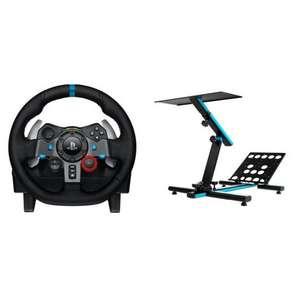 Pack Logitech G29 Driving Force para PS4/PS3/PC + Newskill Byakko V2 Soporte de Volante Profesional