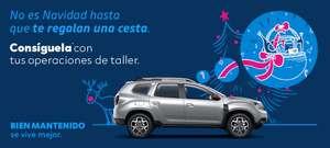 Dacia (Renault Groupe) regala cesta de navidad gastando 150 euros o más en operaciones en sus talleres.