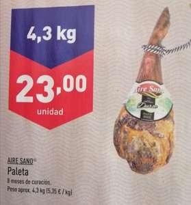 Paleta Duroc Aire Sano sólo 23€