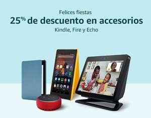 25% descuento en accesorios Kindle, Fire y Echo en Amazon
