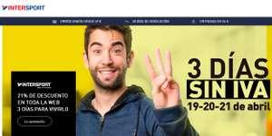 3 Días sin IVA en Intersport