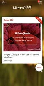 MiercoYES (app Vodafone). ¡Rascas con premio!
