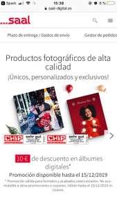 Saal Digital - 10€ de descuento en álbumes