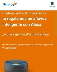 Naturgy Alexa gratis en nuevas contrataciones