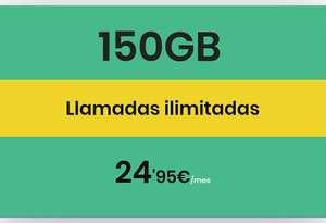 150GB+ILIMITADAS 24,95€ -10% ADICIONAL