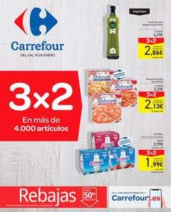 3x2 en CARREFOUR (Catálogo completo en exclusiva :) ) + Catálogo Rebajas Carrefour