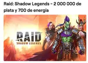 Raid: Shadow Legends - 2 000 000 de plata y 700 de energía con Twitch