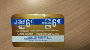 Domino's para estudiantes: 6 euros 1 mediana a recoger.