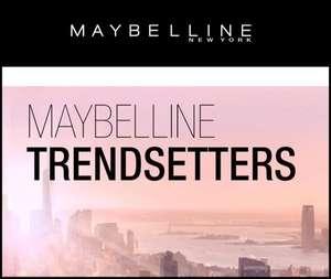 Nuevo proyecto en Maybelline Trendsetters para conseguir muestras gratis de un nuevo Lifting de pestañas.