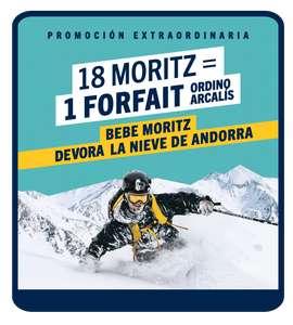 Compra 18 botellas de Moritz y consigue 1 FORFAIT de regalo