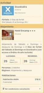 Oferta esquí en Andorra (Forfait 2 días+noche de hotel)