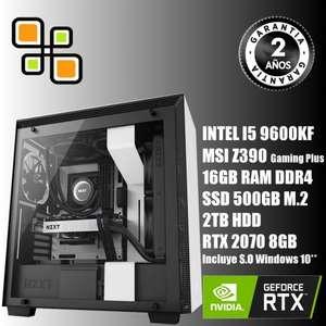 PC Gaming I5 9600KF - 16gb DDR4 RGB y RTX 2070