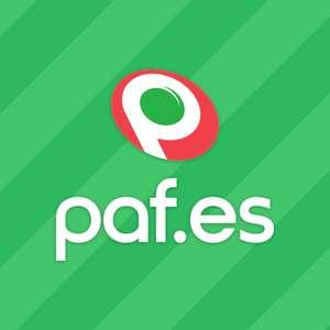 10€ GRATIS RETIRABLES en Paf al ingresar 10€