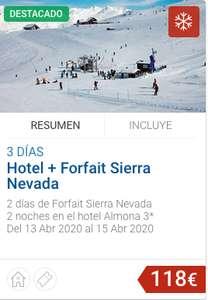 Hotel + Forfait Sierra Nevada desde 118€