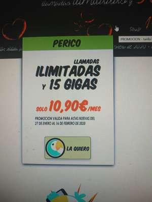 Llamadas ilimitadas y 15 GB por 10.90€